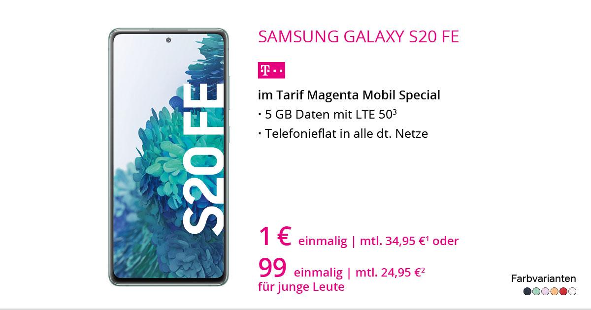 Samsung Galaxy S20 FE Mit MagentaMobil Special