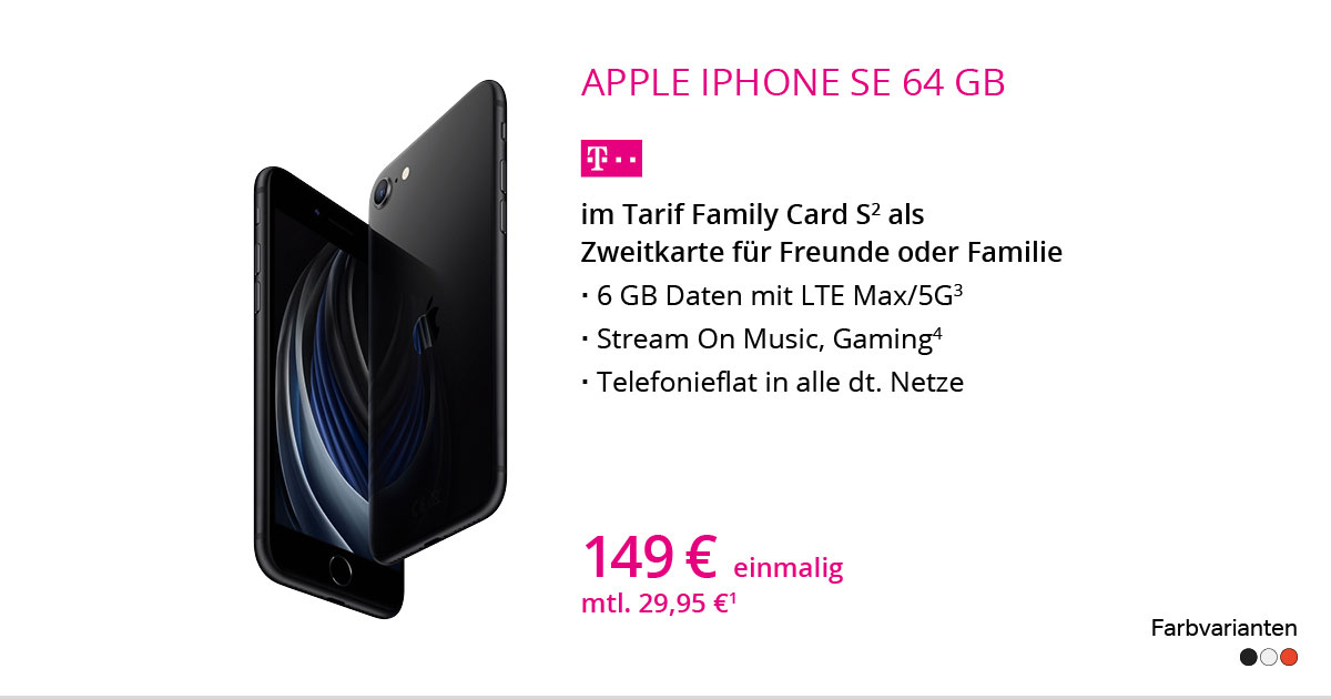 Apple IPhone SE Mit Family Card S