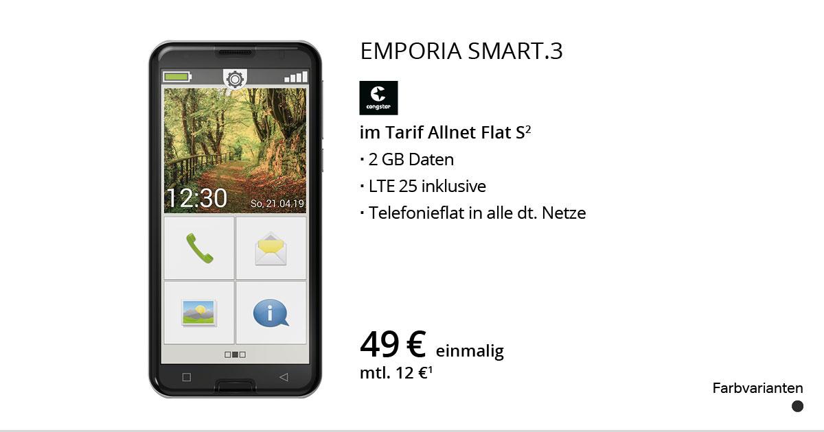 Emporia SMART.3 Mit Congstar Allnet Flat S