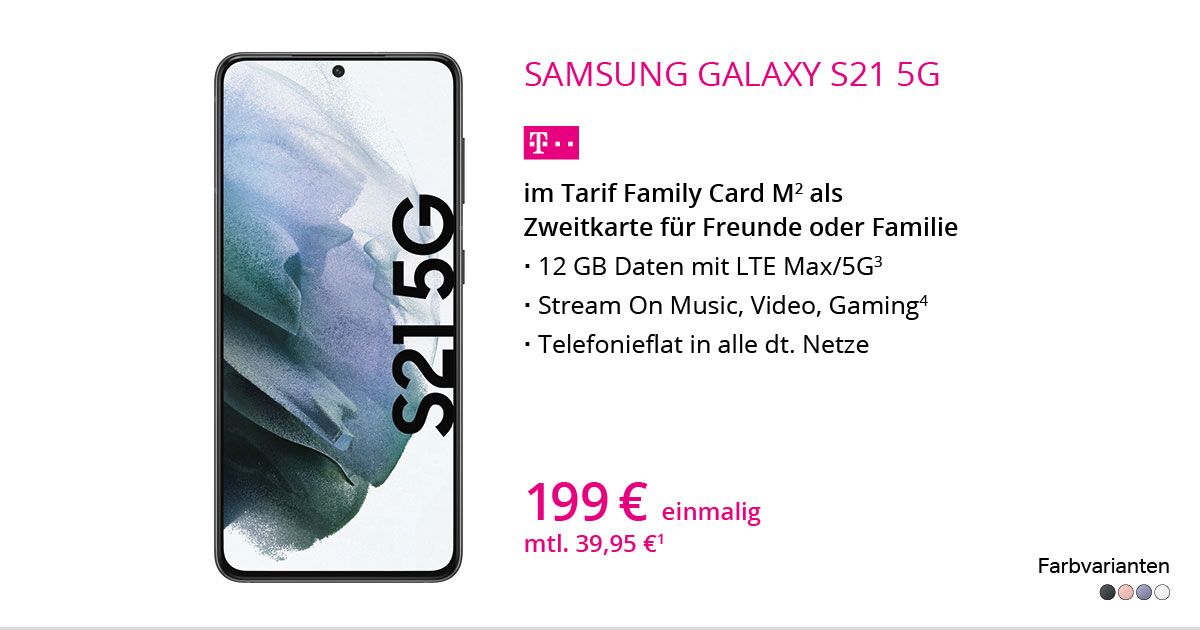 Samsung Galaxy S21 Mit Family Card M