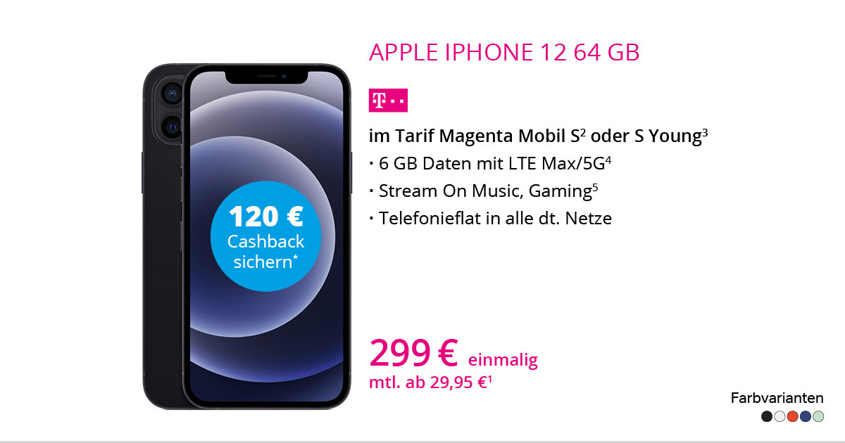 Apple IPhone 12 64 GB Mit MagentaMobil S