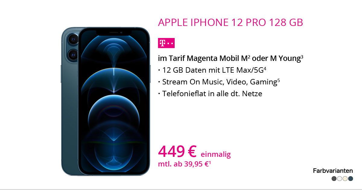 Apple IPhone 12 Pro 128 GB Mit MagentaMobil M