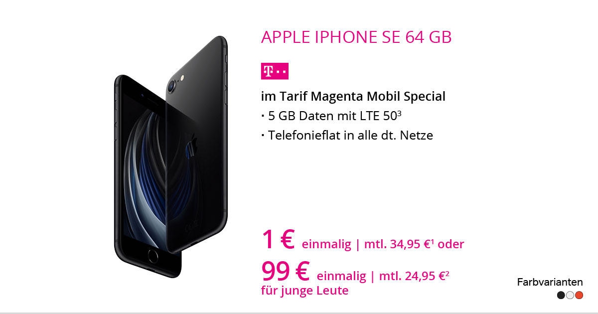 Apple IPhone SE 64 GB Mit MagentaMobil Special
