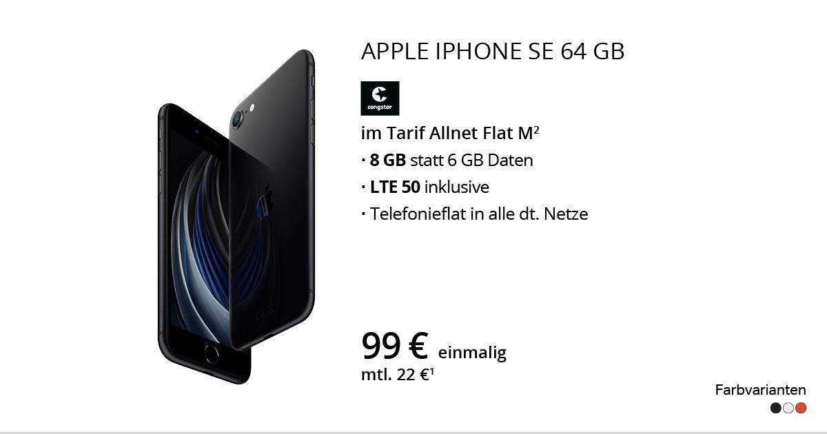 Apple IPhone SE 64 GB Mit Congstar Allnet Flat M