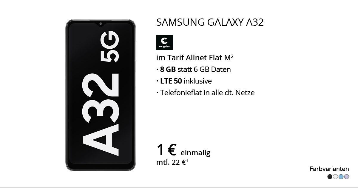 Samsung Galaxy A32 Mit Congstar Allnet Flat M
