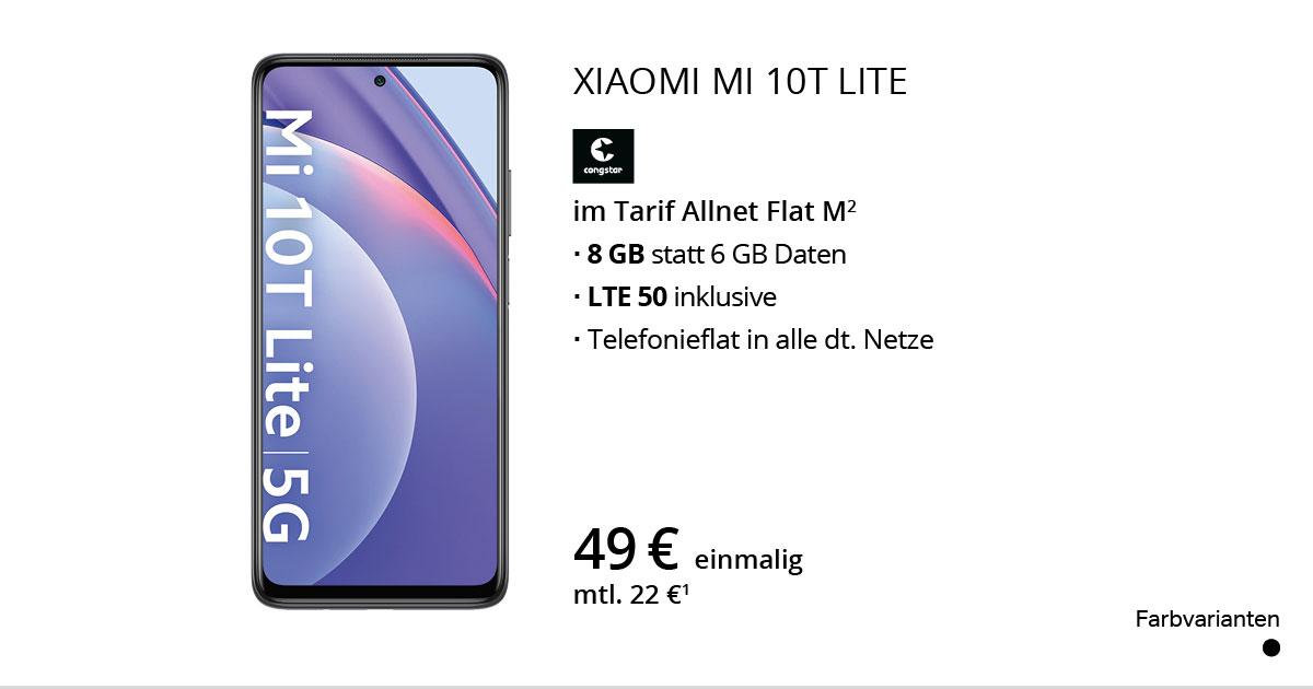 Xiaomi Mi 10T Lite Mit Congstar Allnet Flat M