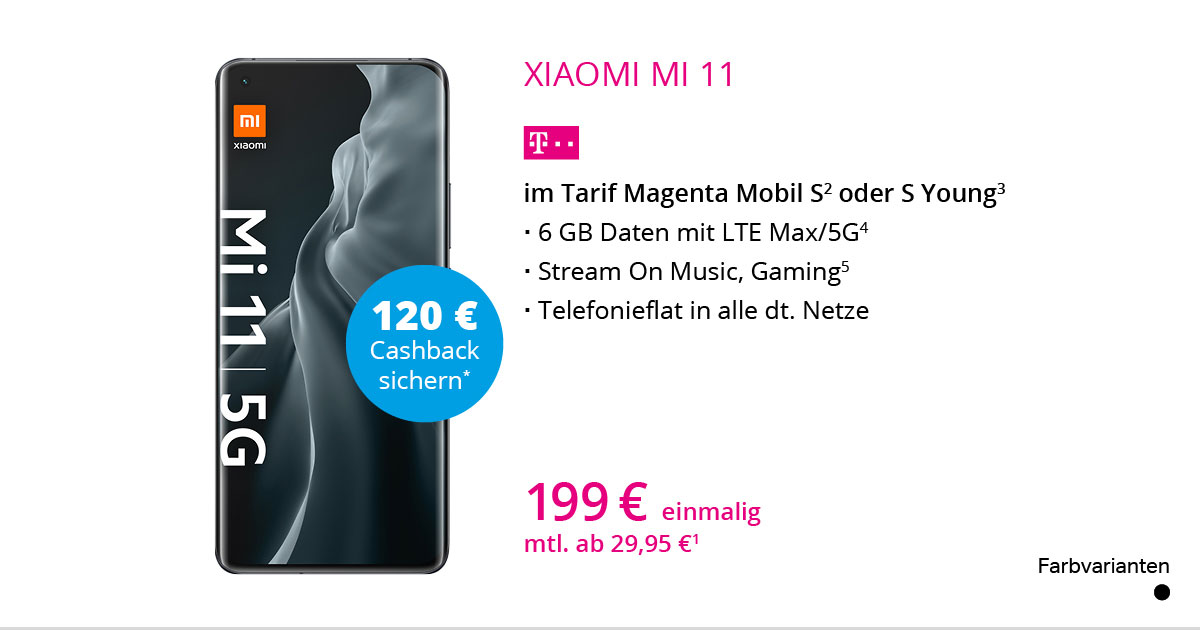 Xiaomi Mi 11 5G Mit MagentaMobil S