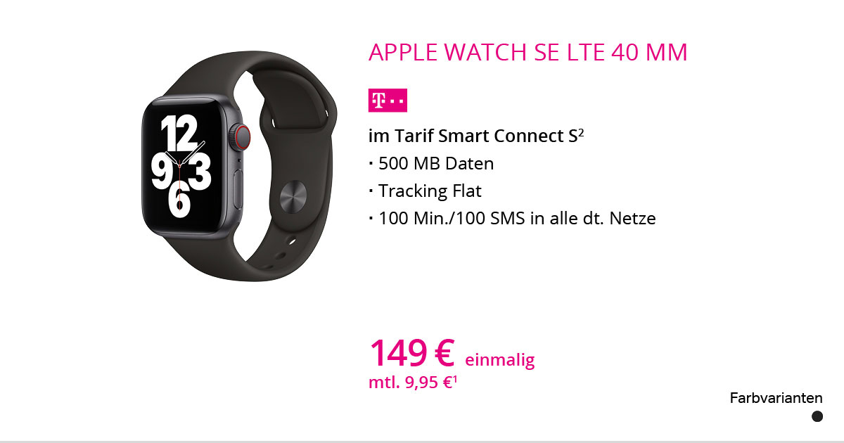 Apple Watch SE LTE 40 Mm Mit Smart Connect S