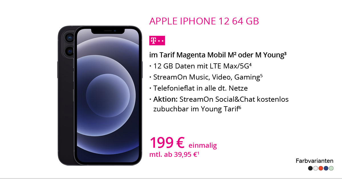 Apple IPhone 12 64 GB Mit MagentaMobil M
