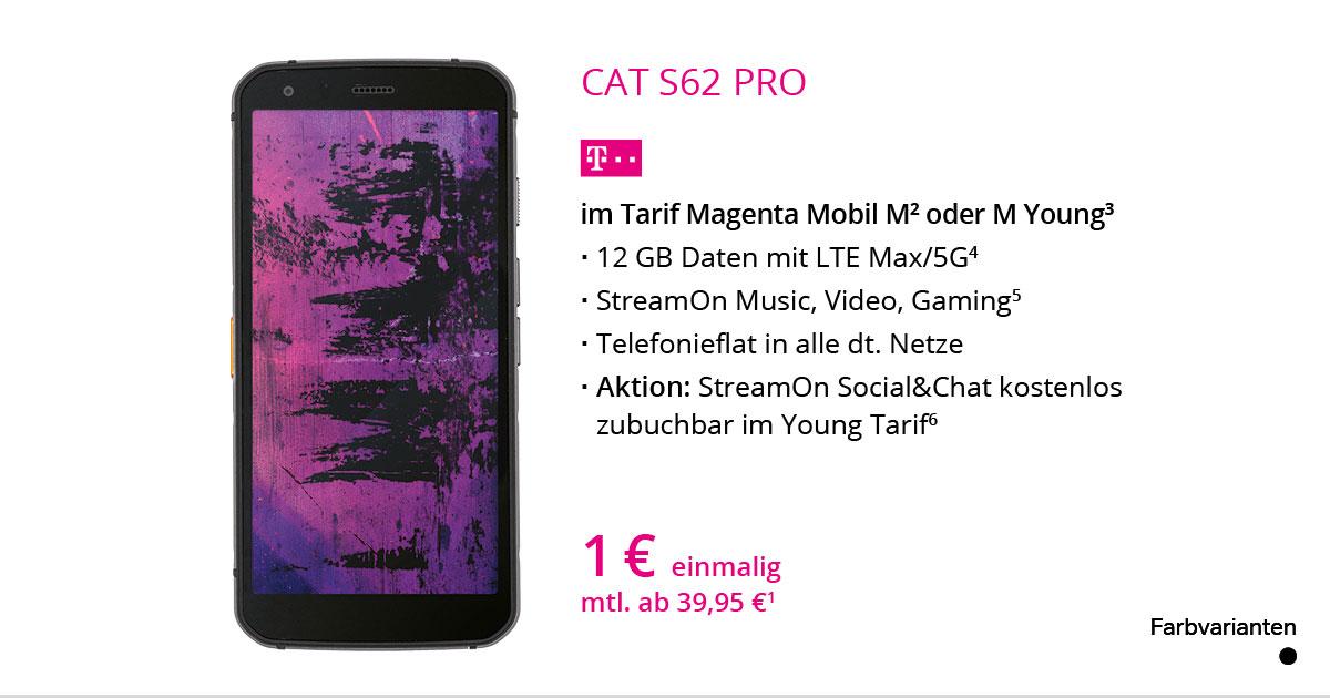 CAT S62 Pro Mit MagentaMobil M