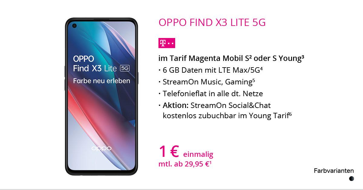 Oppo Find X3 Lite 5G Mit MagentaMobil S