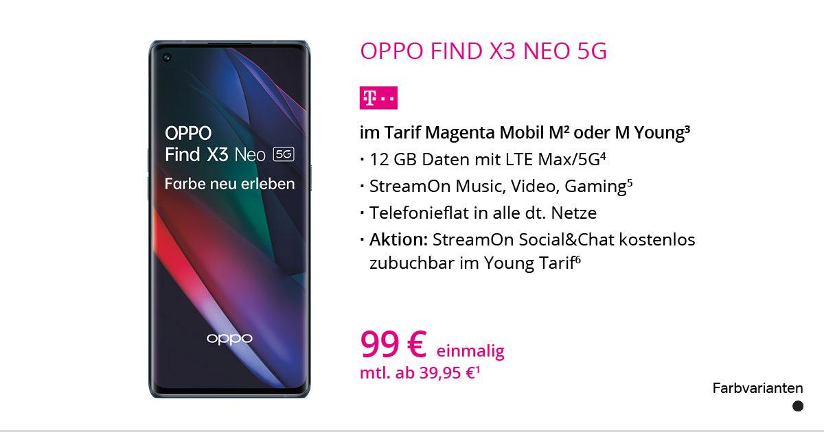 Oppo Find X3 Neo 5G Mit MagentaMobil M