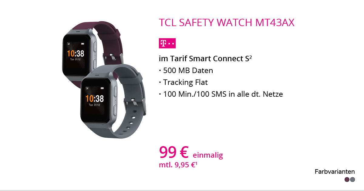 TCL Safety Watch MT43AX Mit Smart Connect S