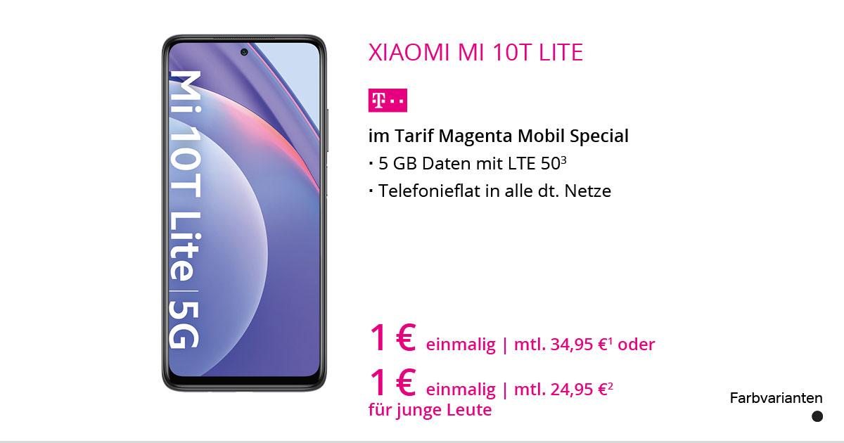 Xiaomi Mi 10T Lite Mit MagentaMobil Special M