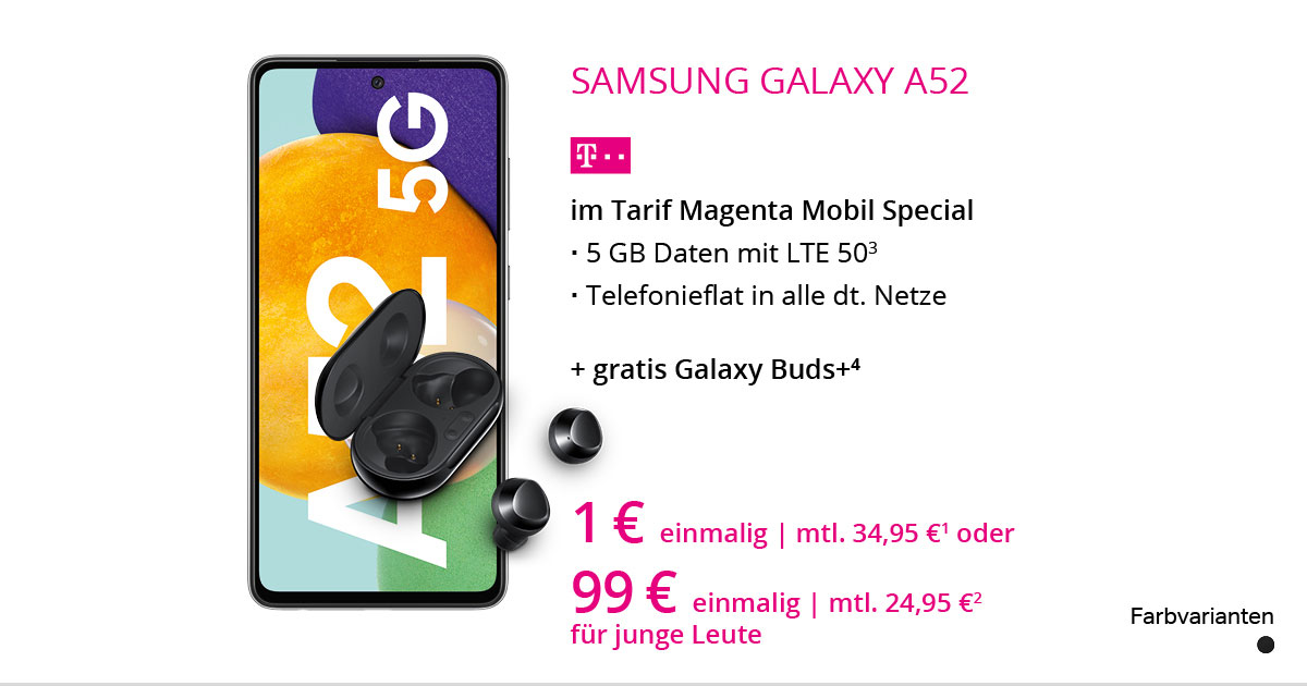 Samsung Galaxy A52 5G Mit MagentaMobil Special