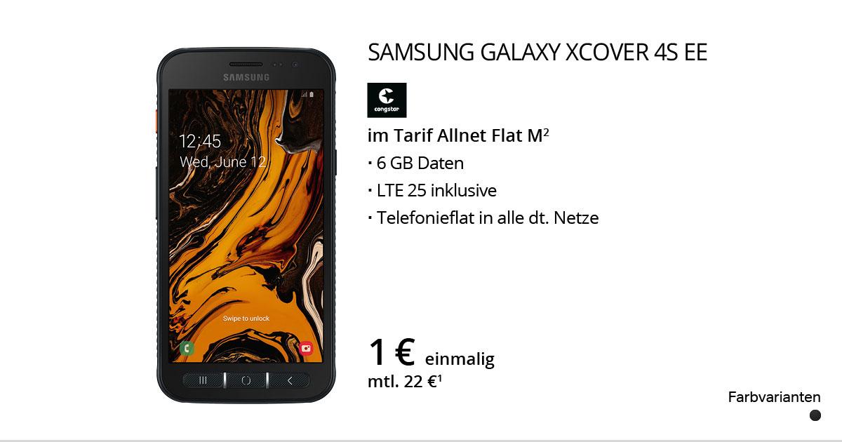 Samsung Galaxy XCover 4s EE Mit Congstar Allnet Flat M
