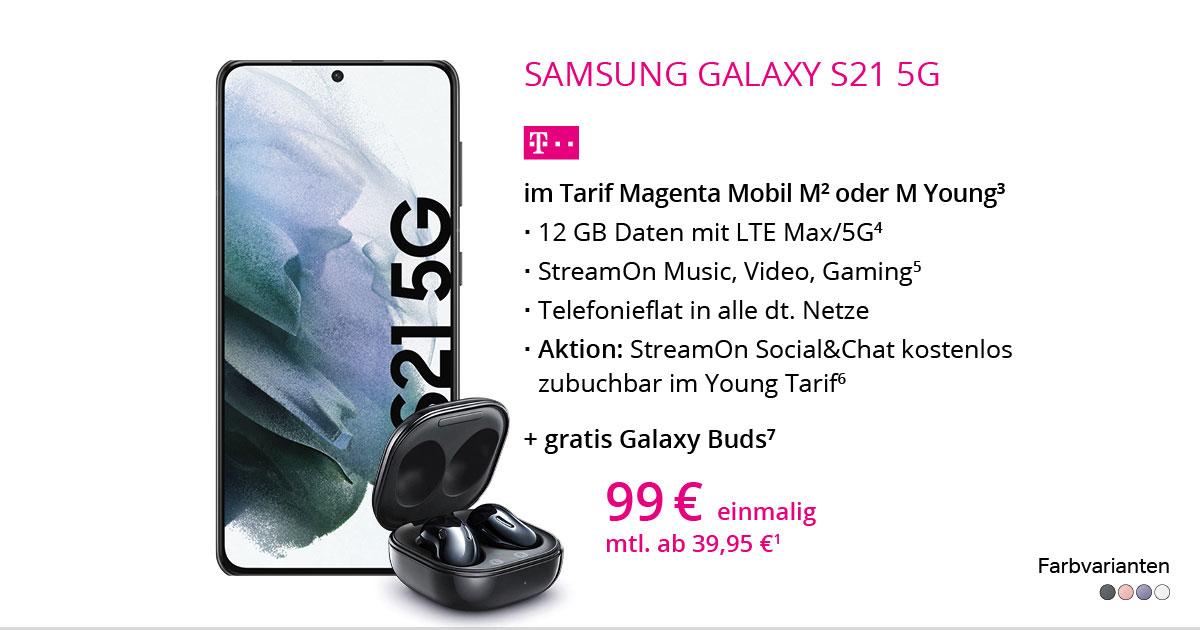 Samsung Galaxy S21 5G Mit MagentaMobil M