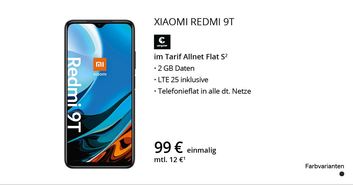 Xiaomi Redmi 9T Mit Congstar Allnet Flat S
