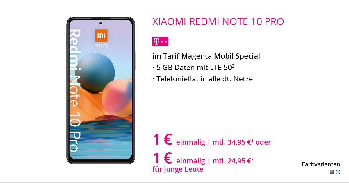 Xiaomi Redmi Note 10 Pro Mit MagentaMobil Special