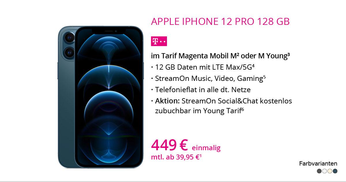 Apple IPhone 12 Pro 128 GB Mit MagentaMobil M