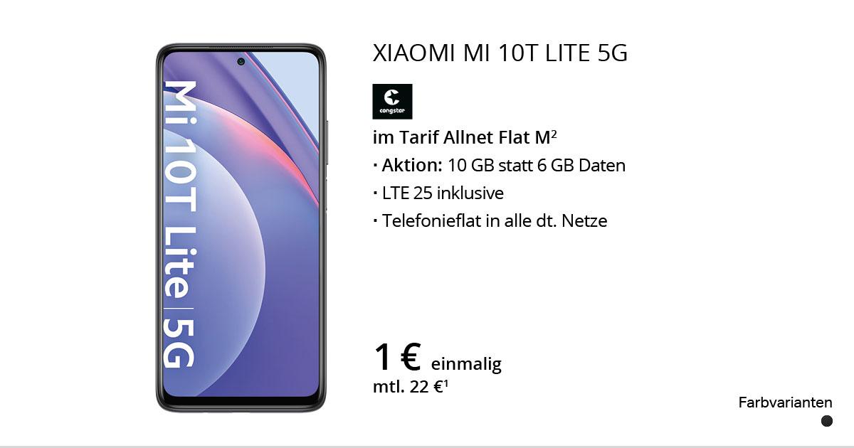 Xiaomi Mi 10T Lite 5G Mit Congstar Allnet Flat M