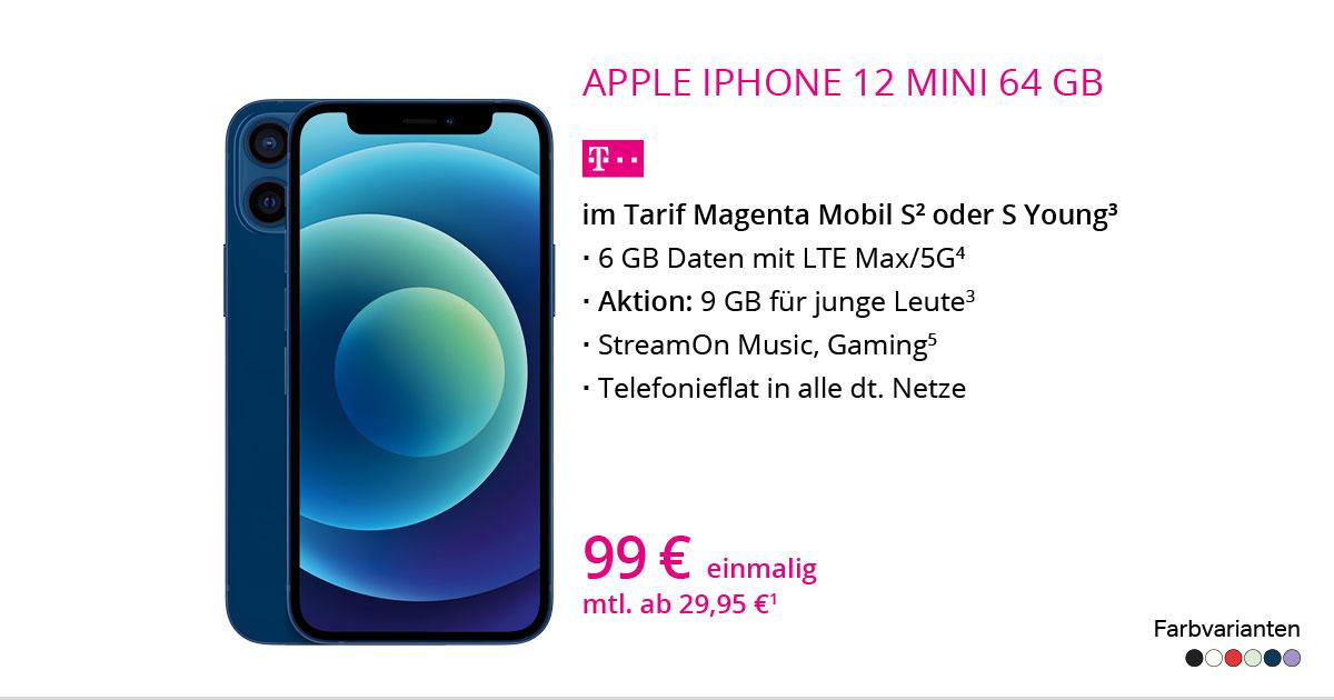 Apple IPhone 12 Mini 64 GB Mit MagentaMobil S