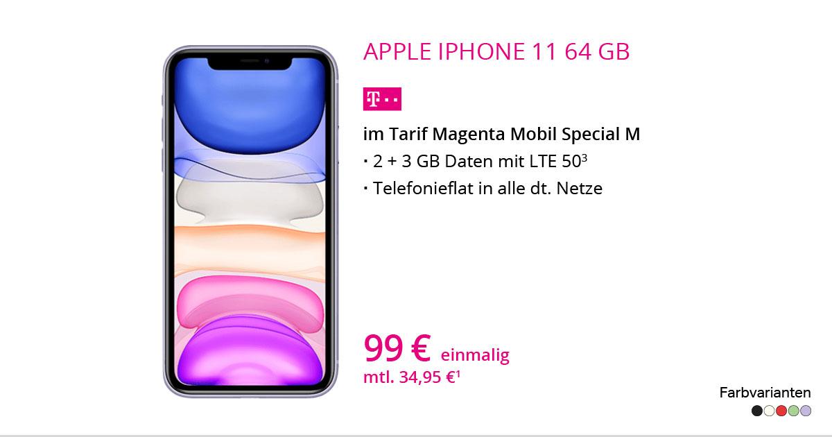 Apple IPhone 11 64 GB Mit MagentaMobil Special M