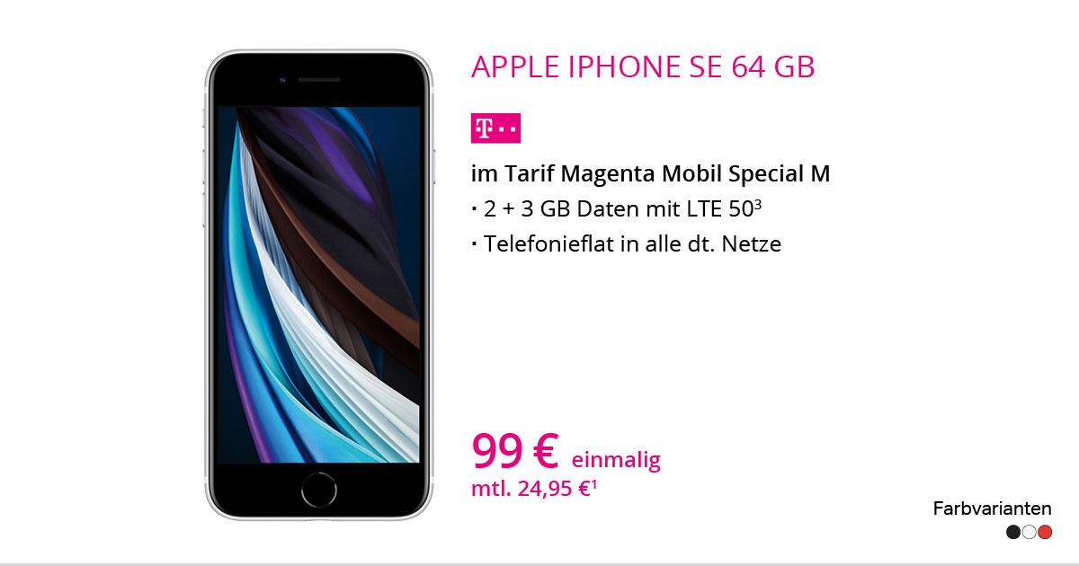 Apple IPhone SE 64 GB Mit MagentaMobil Special M