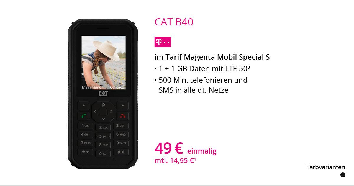 CAT B40 Mit MagentaMobil Special S