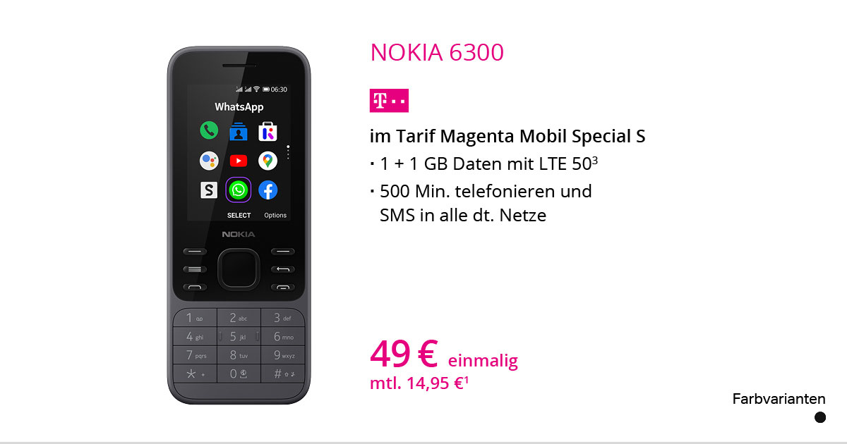 Nokia 6300 Mit MagentaMobil Special S