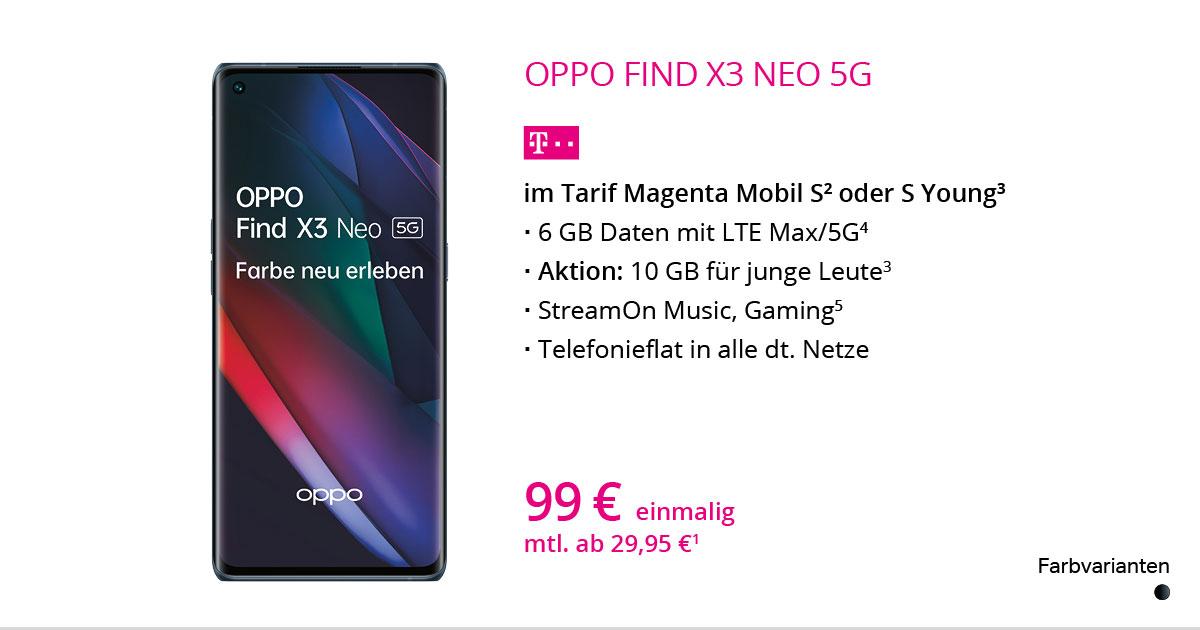 Oppo Find X3 Neo 5G Mit MagentaMobil S