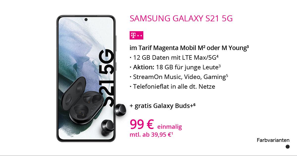 Samsung Galaxy S21 Mit MagentaMobil M