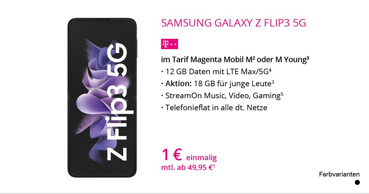 Samsung Galaxy Z Flip3 5G Mit MagentaMobil M