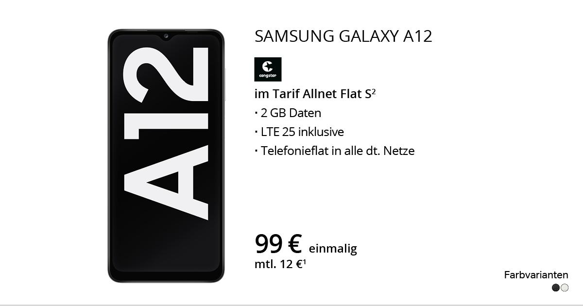 Samsung Galaxy A12 Mit Congstar Allnet Flat S